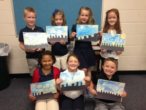 1st Grade Starry Night Cityscape